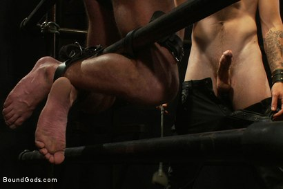 Photo number 3 from Bar Bondage Hookup 2 shot for Bound Gods on Kink.com. Featuring Zach Alexander and Christian Wilde in hardcore BDSM & Fetish porn.