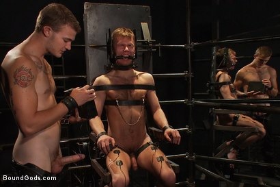 Photo number 6 from Bar Bondage Hookup 2 shot for Bound Gods on Kink.com. Featuring Zach Alexander and Christian Wilde in hardcore BDSM & Fetish porn.