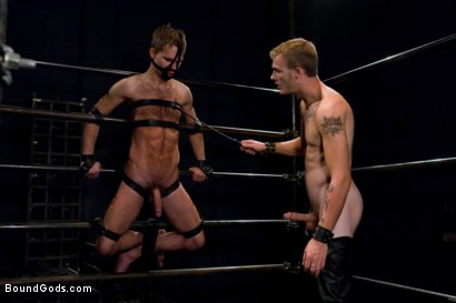 Photo number 4 from Bar Bondage Hookup 2 shot for Bound Gods on Kink.com. Featuring Zach Alexander and Christian Wilde in hardcore BDSM & Fetish porn.