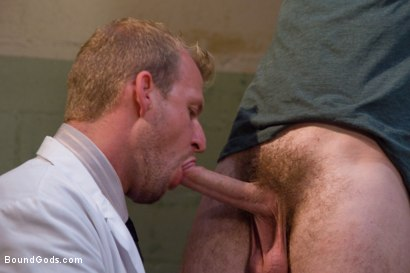 Photo number 2 from The Butcher and The Paperboy shot for Bound Gods on Kink.com. Featuring Ethan Storm and Scott Tanner in hardcore BDSM & Fetish porn.