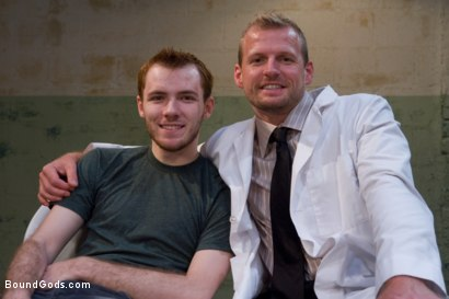 Photo number 15 from The Butcher and The Paperboy shot for Bound Gods on Kink.com. Featuring Ethan Storm and Scott Tanner in hardcore BDSM & Fetish porn.