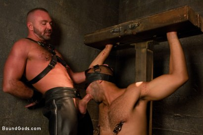 Photo number 4 from Resistance is Futile   shot for Bound Gods on Kink.com. Featuring Leo Forte and Josh West in hardcore BDSM & Fetish porn.