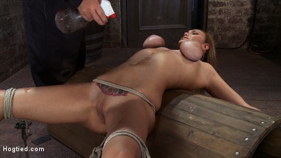 Photo number 3 from Massive Orgasm Overload<br> Complete Destruction from Brutal Sexaul Armageddon  shot for Hogtied on Kink.com. Featuring Alexia Rae in hardcore BDSM & Fetish porn.
