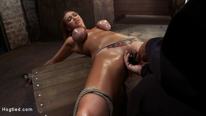 Photo number 6 from Massive Orgasm Overload<br> Complete Destruction from Brutal Sexaul Armageddon  shot for Hogtied on Kink.com. Featuring Alexia Rae in hardcore BDSM & Fetish porn.
