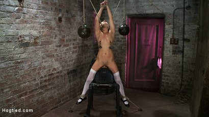 Photo number 10 from PIG TAILS<BR>and<br>THIGH HIGHS shot for Hogtied on Kink.com. Featuring Jessie Cox in hardcore BDSM & Fetish porn.
