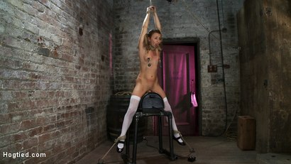 Photo number 6 from PIG TAILS<BR>and<br>THIGH HIGHS shot for Hogtied on Kink.com. Featuring Jessie Cox in hardcore BDSM & Fetish porn.