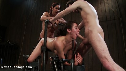 Photo number 6 from How much fucking can the Princess<br>even take? shot for Device Bondage on Kink.com. Featuring James Deen, Princess Donna Dolore and Isis Love in hardcore BDSM & Fetish porn.