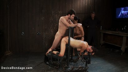 Photo number 7 from How much fucking can the Princess<br>even take? shot for Device Bondage on Kink.com. Featuring James Deen, Princess Donna Dolore and Isis Love in hardcore BDSM & Fetish porn.