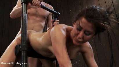 Photo number 8 from How much fucking can the Princess<br>even take? shot for Device Bondage on Kink.com. Featuring James Deen, Princess Donna Dolore and Isis Love in hardcore BDSM & Fetish porn.