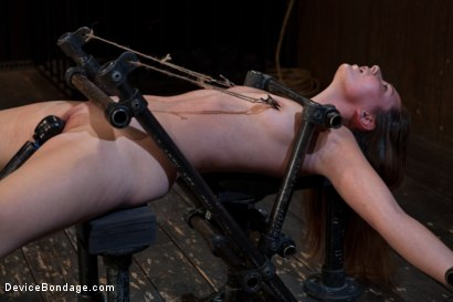 Photo number 11 from How do you get a sweet, shy 19-year-old girl to open up and come out of her shell? shot for Device Bondage on Kink.com. Featuring Sasha in hardcore BDSM & Fetish porn.