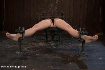 Photo number 3 from How do you get a sweet, shy 19-year-old girl to open up and come out of her shell? shot for Device Bondage on Kink.com. Featuring Sasha in hardcore BDSM & Fetish porn.