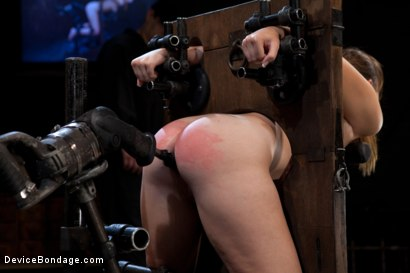 Photo number 7 from Innocent 19 year old first-timer + Alpha = Pure Magic shot for Device Bondage on Kink.com. Featuring Sasha in hardcore BDSM & Fetish porn.