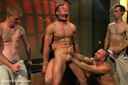 Photo number 14 from Trent Diesel's Ultimate Fantasy shot for Bound in Public on Kink.com. Featuring Josh West and Trent Diesel in hardcore BDSM & Fetish porn.