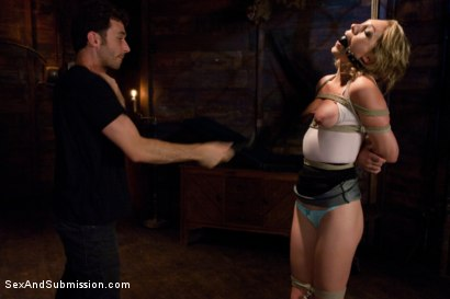 Photo number 4 from Natural Born Submissive shot for Sex And Submission on Kink.com. Featuring James Deen and Lily LaBeau in hardcore BDSM & Fetish porn.