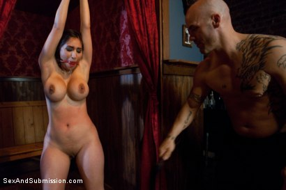 Photo number 6 from Thieving Waitress shot for Sex And Submission on Kink.com. Featuring Derrick Pierce and Alexis Breeze in hardcore BDSM & Fetish porn.
