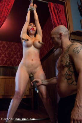 Photo number 7 from Thieving Waitress shot for Sex And Submission on Kink.com. Featuring Derrick Pierce and Alexis Breeze in hardcore BDSM & Fetish porn.