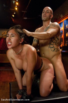 Photo number 11 from Thieving Waitress shot for Sex And Submission on Kink.com. Featuring Derrick Pierce and Alexis Breeze in hardcore BDSM & Fetish porn.