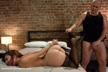 Photo number 10 from The Extorted shot for Sex And Submission on Kink.com. Featuring Mark Davis and Kristina Rose in hardcore BDSM & Fetish porn.