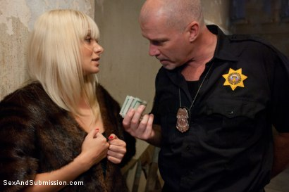Photo number 2 from Pimp Cop and Hooker shot for Sex And Submission on Kink.com. Featuring Mark Davis and Lea Lexis in hardcore BDSM & Fetish porn.