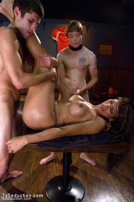 Photo number 12 from TAKING FRAT BOY VIRGINITY shot for TS Seduction on Kink.com. Featuring Yasmin Lee, Koby Fox and Robert Bridges in hardcore BDSM & Fetish porn.