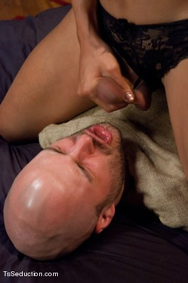 Photo number 4 from Home Invasion  shot for TS Seduction on Kink.com. Featuring Yasmin Lee and David Chase in hardcore BDSM & Fetish porn.