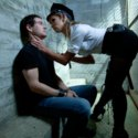Macho prisoner humiliated and ass pounded by smoking hot dominant cop girl!