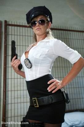 Photo number 1 from Corrupt Bitch Cop shot for Divine Bitches on Kink.com. Featuring Felony and Curt Wooster in hardcore BDSM & Fetish porn.
