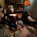 Maitresse Madeline takes advantage of slaveboys weaknesses with humiliation, strapon fucking and chastity