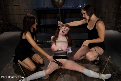 Photo number 2 from 18 Year Old Iona has her First Experience with a Girl on Camera with Two Doms shot for Wired Pussy on Kink.com. Featuring Bobbi Starr and Iona Grace in hardcore BDSM & Fetish porn.