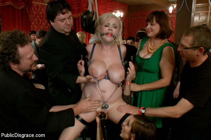 Bdsm fetish public humiliation gangbang captions
