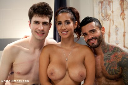 Photo number 9 from Cock growing cocktail for the cuck! shot for Divine Bitches on Kink.com. Featuring Alexsander Freitas, Chris Ockham and Isis Love in hardcore BDSM & Fetish porn.