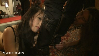 Photo number 10 from Thin Line Between Art and Sex 2 Play Party shot for The Upper Floor on Kink.com. Featuring Cherry Torn and Bella Rossi in hardcore BDSM & Fetish porn.