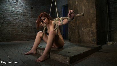 Photo number 4 from 18 Years Old, And In  Way  Over Her Head shot for Hogtied on Kink.com. Featuring Lexi Brooks in hardcore BDSM & Fetish porn.