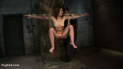 Photo number 9 from 18 Years Old, And In  Way  Over Her Head shot for Hogtied on Kink.com. Featuring Lexi Brooks in hardcore BDSM & Fetish porn.