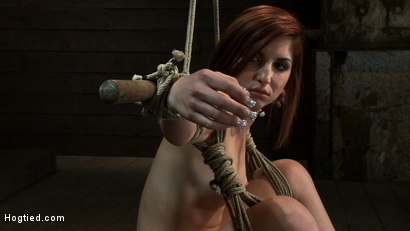 Photo number 3 from 18 Years Old, And In<br>Way <br>Over Her Head shot for Hogtied on Kink.com. Featuring Lexi Brooks in hardcore BDSM & Fetish porn.