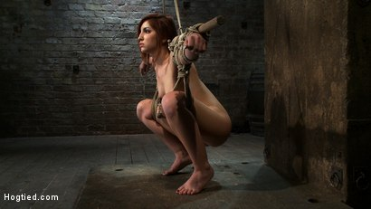 Photo number 7 from 18 Years Old, And In<br>Way <br>Over Her Head shot for Hogtied on Kink.com. Featuring Lexi Brooks in hardcore BDSM & Fetish porn.