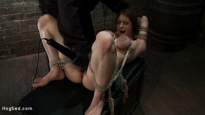 Photo number 12 from 18 years old with huge natural tits is bound, made to cum<br> Big tits brutally tied and punished. shot for Hogtied on Kink.com. Featuring Iona Grace in hardcore BDSM & Fetish porn.