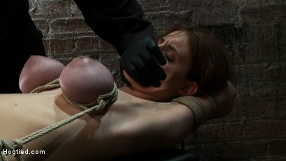 Photo number 8 from 18 years old with huge natural tits is bound, made to cum<br> Big tits brutally tied and punished. shot for Hogtied on Kink.com. Featuring Iona Grace in hardcore BDSM & Fetish porn.