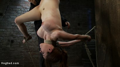 Photo number 10 from 19 yr Old with Huge Tits Suffers in a <br>Catigory5 Suspension, Cums while Upside Down and Helpless shot for Hogtied on Kink.com. Featuring Iona Grace in hardcore BDSM & Fetish porn.