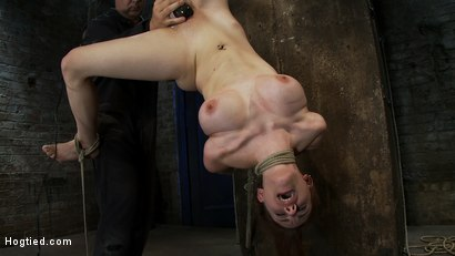 Photo number 12 from 19 yr Old with Huge Tits Suffers in a <br>Catigory5 Suspension, Cums while Upside Down and Helpless shot for Hogtied on Kink.com. Featuring Iona Grace in hardcore BDSM & Fetish porn.