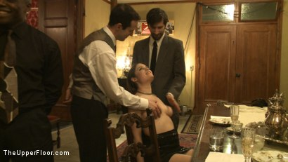 Photo number 13 from The Story So Far shot for The Upper Floor on Kink.com. Featuring Maestro, Cherry Torn, Bella Rossi, Peter and James in hardcore BDSM & Fetish porn.