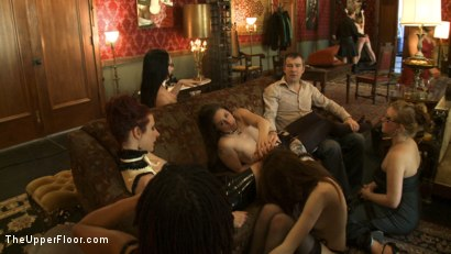 Photo number 3 from The Story So Far shot for The Upper Floor on Kink.com. Featuring Maestro, Cherry Torn, Bella Rossi, Peter and James in hardcore BDSM & Fetish porn.