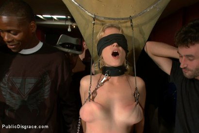 Photo number 2 from Hot Public Disgrace Member Experiences Public Sex and Bondage for the First Time shot for Public Disgrace on Kink.com. Featuring James Deen, Tommy Pistol and Clayra Beau in hardcore BDSM & Fetish porn.