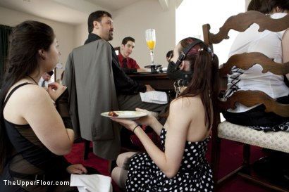 Photo number 4 from Stefanos' Brunch shot for The Upper Floor on Kink.com. Featuring Cherry Torn and Bella Rossi in hardcore BDSM & Fetish porn.