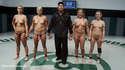 Photo number 2 from ROUND FOUR: <BR>The Ninja's (2-0) vs The Pirates (0-2) shot for Ultimate Surrender on Kink.com. Featuring Vendetta, Tara Lynn Foxx, Dia Zerva and Jessie Cox in hardcore BDSM & Fetish porn.