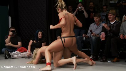 Photo number 15 from ROUND FOUR: <BR>The Ninja's (2-0) vs The Pirates (0-2) shot for Ultimate Surrender on Kink.com. Featuring Vendetta, Tara Lynn Foxx, Dia Zerva and Jessie Cox in hardcore BDSM & Fetish porn.