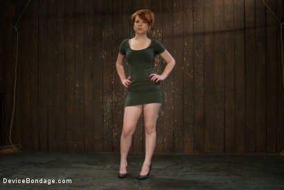 Photo number 2 from Machine Fucked Senseless for the Very First Time shot for Device Bondage on Kink.com. Featuring Juliette March in hardcore BDSM & Fetish porn.