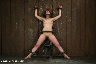 Photo number 1 from Machine Fucked Senseless for the Very First Time shot for Device Bondage on Kink.com. Featuring Juliette March in hardcore BDSM & Fetish porn.