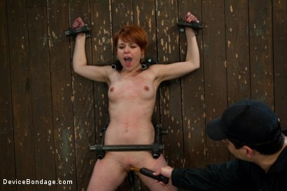 Photo number 9 from Machine Fucked Senseless for the Very First Time shot for Device Bondage on Kink.com. Featuring Juliette March in hardcore BDSM & Fetish porn.