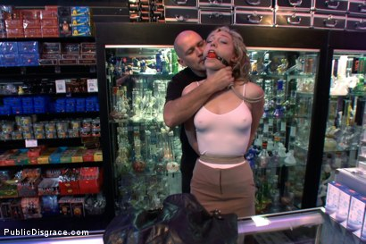 Photo number 2 from Shopping Day shot for Public Disgrace on Kink.com. Featuring Mark Davis and Lily LaBeau in hardcore BDSM & Fetish porn.
